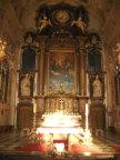 Kloster Benediktbeuern, Abendsonne am Altar