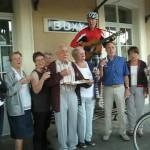 der Bahnhof von Buxy an der Saone mit Chor, Musik vom Wanderhans