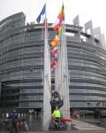europ. Parlament in Strasbourg mit Fernradler