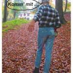 wandern zur Hütte im Pfälzerwald