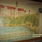 """Wandmalerei in der Hütte """"Hohe Fels"""""""