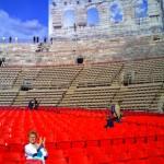 'Arena di Verona; Lilo applaudiert dem Wanderhans