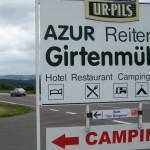 """B 268, Abzweig zur Girtenmühle und Start zum """"Bergener"""""""