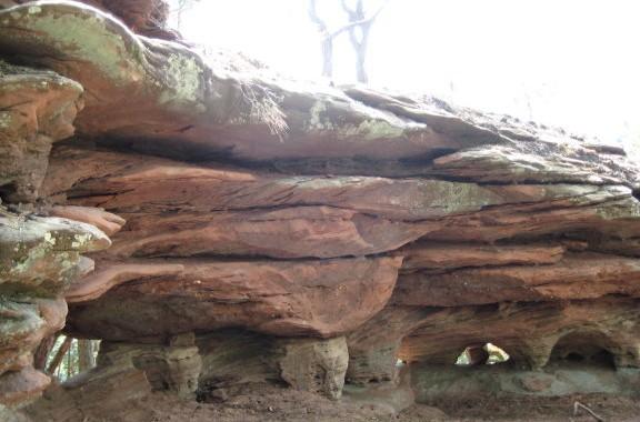 rosskegelfels auf dem Dahner Felsenpfad