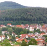 Blick auf Dahn vom Dahner Felsenpfad