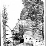 Die Burgruine Froensbourg in den Vogesen