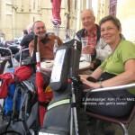 Metz, Plce de la Kathedrale, 2 Jakobspilger, Fernwanderungen Frankreich