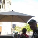 Reims; Champagner vor der Kathedrale