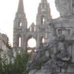 Soissons, Abbaye de Saint Jean, la fassade; la guerre 1870 + la guerre 1914-1918
