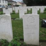 Soldatenfriedhof bei Amiens, kanadischer Leutnant
