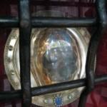 Fernwanderungen in Frankreich; Kathedrale von Amiens, Kopf des hl. Johannes