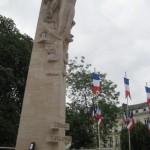 Fernwanderungen in Frankreich; Amiens, Kriegerdenkmal