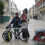 Fernwanderungen in Frankreich; Fernradler in Amiens