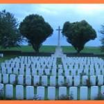 Fernwanderungen in Frankreich; britischer Soldatenfriedhof in Crouy