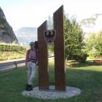 in Trento eine Willkommen-Stele