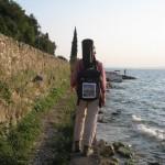 Goetheweg am Ufer entlang am Gardasee