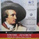 Chievo mit Goethe-Plakat am Goetheweg