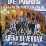 """Verona mit der Arena und Theater """"Notre Dame de Paris"""" am 10. Sepstember 2009"""