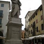 Vicenza mit dem Denkmal für Palladio