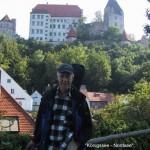 schönes Landshut mit dem Schloss Trausnitz