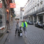 """Besancon mit dem """"Hotel du nord"""" und Fernradler"""