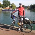 """Chalon sur Saone mit dem """"Canal lateral"""" und der Saone"""