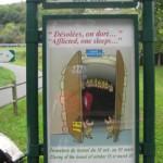 """""""Tunnel du bois clair"""" vor Cluny"""