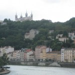 """Lyon mit derKathedrale """"Notre-Dame de Fourvière"""""""