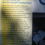 Gründung der Bundesrepublik Deutschland beim Hotel Rittersturz