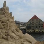 Kopenhagen mit einer Sandburg