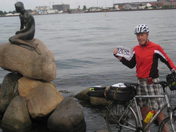 lille Havfrue in Kopenhagen mit Wanderhans