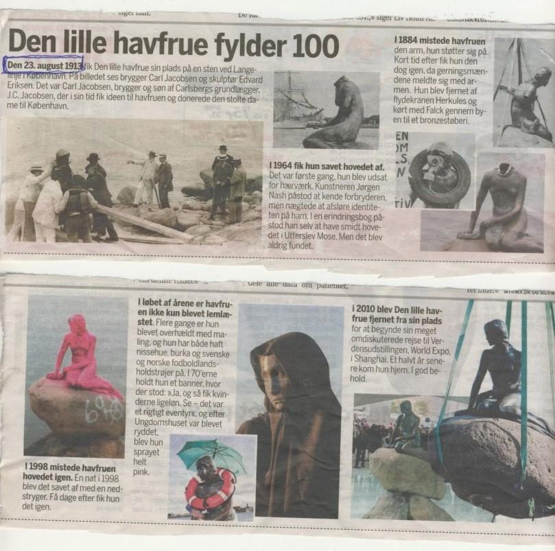 den-lille-havfrue-23-august-1913, 100 Jahre alt