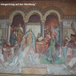 Wartburg mit dem Gemälde vom Sängerkrieg