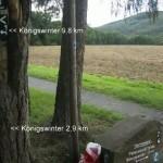 nach Königswinter 9 oder 2 km laufen?