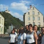 das malerische Braubach mit der Marksburg und Polterfrauen