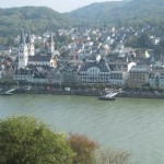 Blick vom Rheinsteig auf Boppard