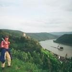 auf dem Rheinsteig vor Kaub