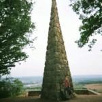 ein Goethestein am Rheinsteig bei Wiesbaden