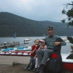 Wanderer am Titisee