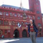 Basel; das rote Rathaus