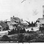 Hornisgrinde mit Turm auf einer alten Postkarte