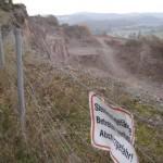 Absturz am Steinbruch Porphyrit bei Altenglan
