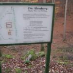 die Altenburg; Historie auf der Tafel