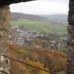 Blick von der Michelsburg auf Theisbergstegen