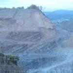 mächtiger Porphyrit-Steinbruch bei Altenglan