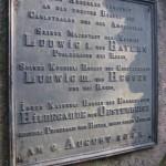 Gusstafel bei der Amseldellhuette für Kronprinz Ludwig