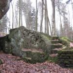 """Veranda mit Bildhauereien beim  """"Jäger aus Kurpfalz"""" bei Heltersberg"""