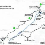 Tour Gräfensteinhütte; Wegeskizze