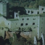 Luftbild von der Burgruine Gräfenstein