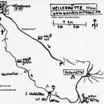 Wanderung zur Hellerhütte mit Wegeskizze